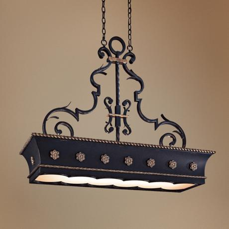 French Quarter Hanging Counter Light Chandelier