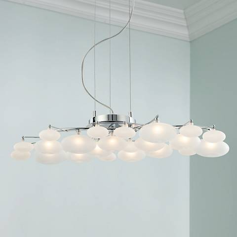 "Possini Euro Design Lilypad 30"" Wide Pendant Light"
