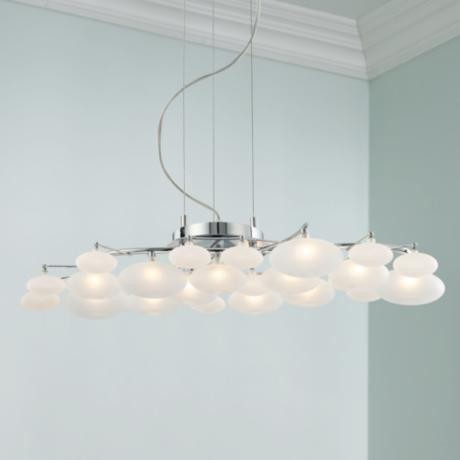 possini euro design lilypad 30 wide pendant light 94244 www. Black Bedroom Furniture Sets. Home Design Ideas