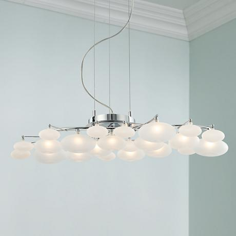 possini euro design lilypad 30 wide pendant light