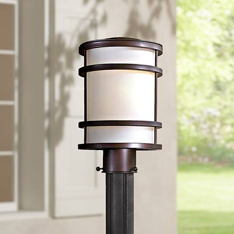 "Bay View Collection 12 1/4"" High Bronze Post Mount Light"
