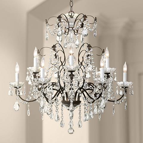 Schonbek Madison Twelve Light Legacy Crystal Chandelier