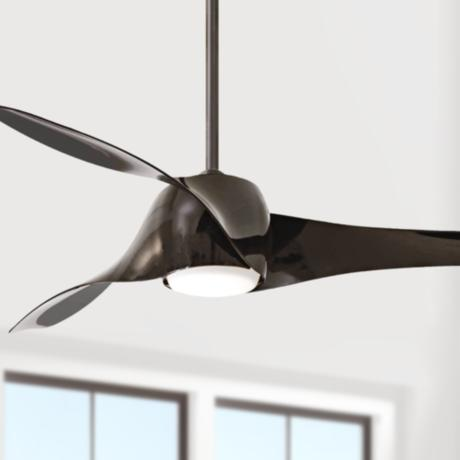 "58"" Artemis High Gloss Black Ceiling Fan"
