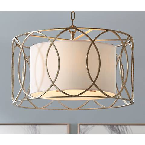 "Sausalito 25"" Wide Silver Gold Pendant Light"