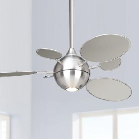 "54"" Minka Aire Cirque Brushed Nickel Ceiling Fan"