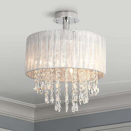 Velie 12 wide round crystal ceiling light 8f723 www for Possini lighting website
