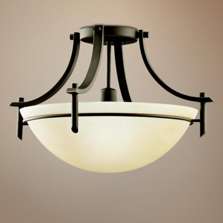 "Olympia Bronze 18"" Wide Ceiling Light Fixture"