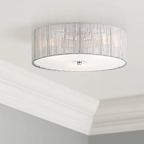"Possini Euro Design Sheer Silver 16"" Ceiling Light"