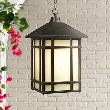 "J du J Mission Hills 16 1/2"" High Outdoor Hanging Light"