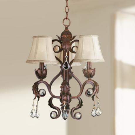 "Kathy Ireland Ramas de Luces Bronze 17"" Wide Chandelier"