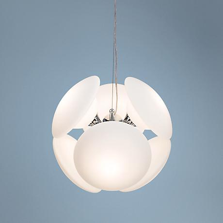 Possini Euro Mushrooms White 6-Light Pendant Chandelier