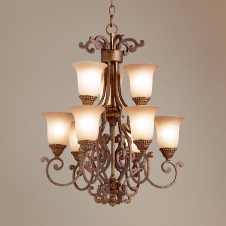 "Larissa Collection 18 1/2"" 9-Light Mini Chandelier"
