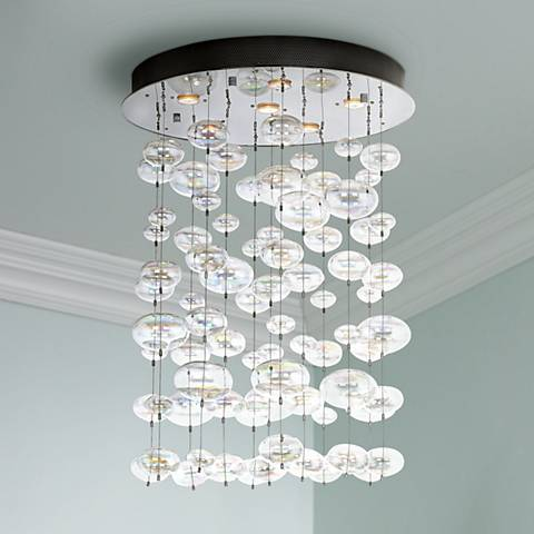 Possini Euro Floating Bubble 6 Light Round Ceiling Fixture