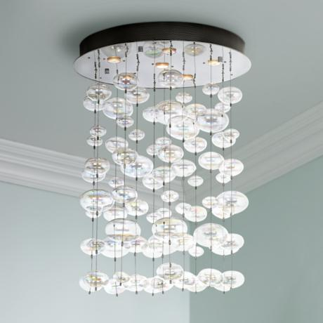 Possini Euro Floating Bubble 6-Light Round Ceiling Fixture