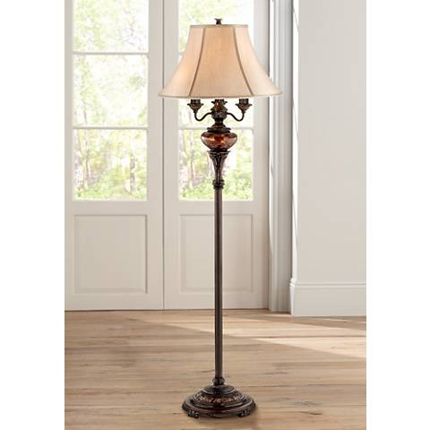 Bronze Tortoise Shell Font Floor Lamp by Barnes and Ivy