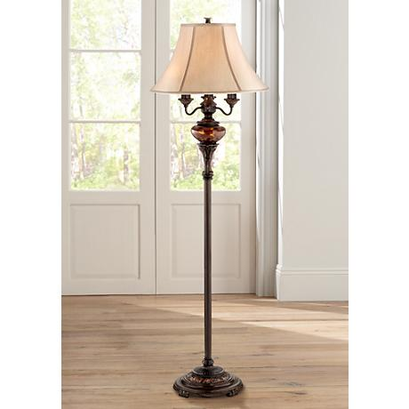 Bronze Tortoise Shell Font Floor Lamp