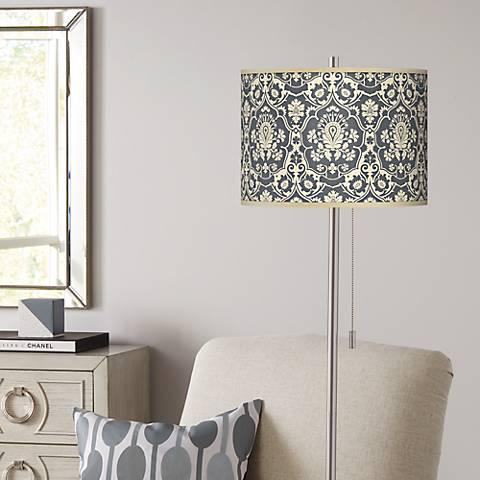 Seedling by thomaspaul Damask Brushed NickelFloor Lamp