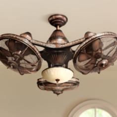 "38"" Esquire™ Rich Bronze Finish 3-Head Ceiling Fan"