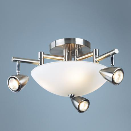 "Adjustable 20"" Wide Three Arm Ceiling Light Fixture"