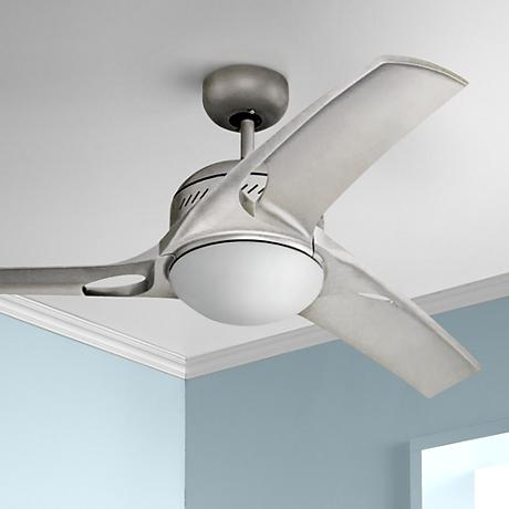 "38"" Monte Carlo Mach Two Titanium Finish Ceiling Fan"