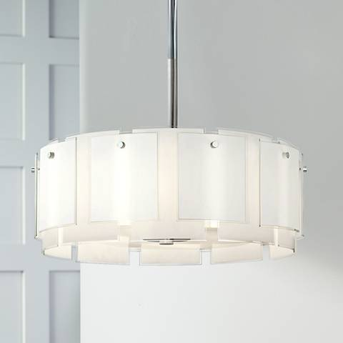 "Sonneman Velo 29"" Wide Polished Chrome Pendant Light"