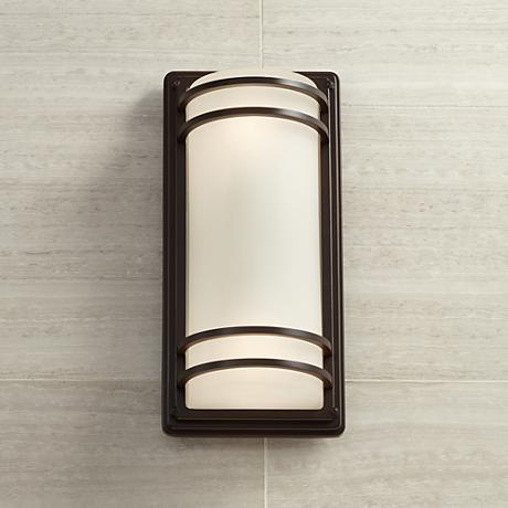 Habitat Collection 16quot; High Indoor Outdoor Wall Light 9C037 - Wall lights, LED bathroom ...