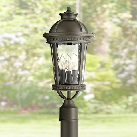 "John Timberland Provence 19 1/2""H Black Outdoor Post Light"