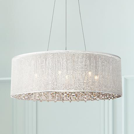 "Possini Euro Tellise Chrome 21 1/2""W Crystal Pendant Light"