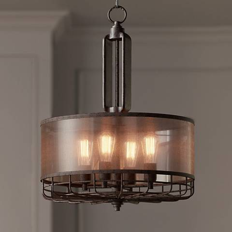 "Possini Euro Hillger 20 1/4""W Rust Pendant Light"