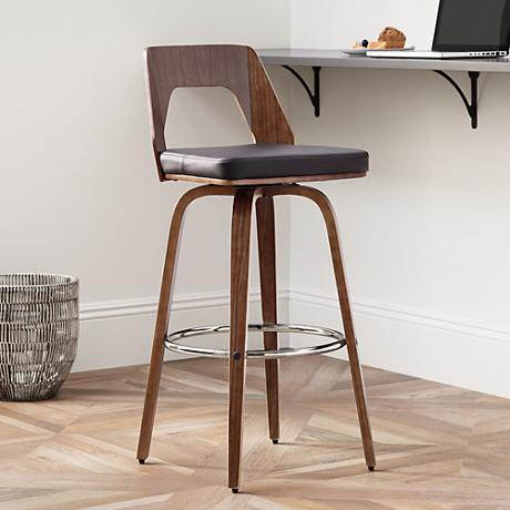 "Trilogy 30"" Chocolate Faux Leather Barstool"