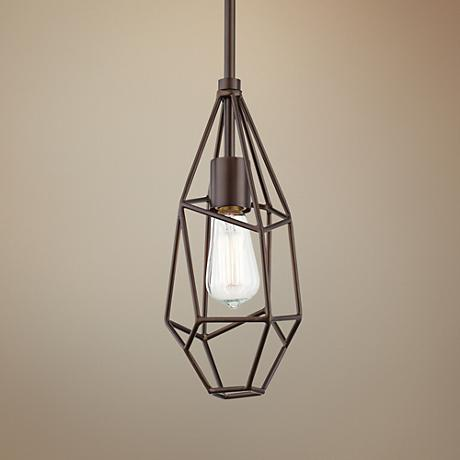 "Possini Euro Mozzafiato 7"" Wide Oiled Bronze Mini-Pendant"