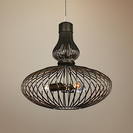 "Varaluz Clout 18"" Wide New Bronze Pendant Light"
