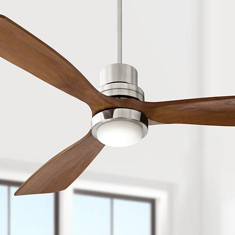 52 Quot Casa Delta Wing Brushed Nickel Led Ceiling Fan