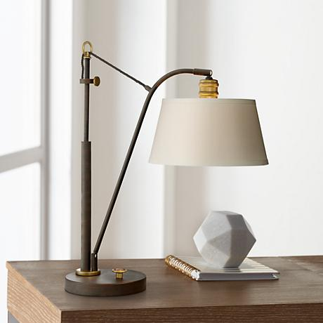 Quoizel Chester Oil Rubbed Bronze Downbridge Desk Lamp