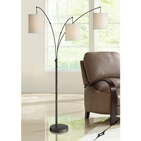 Quoizel Overlook Oil Rubbed Bronze 3-Light Arc Floor Lamp