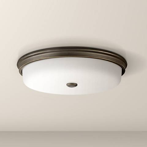 "Kichler Jefferson 18"" Wide Olde Bronze LED Ceiling Light"