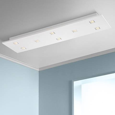 "Eurofase Kano 35"" Wide Aluminum 8-Light LED Ceiling Light"