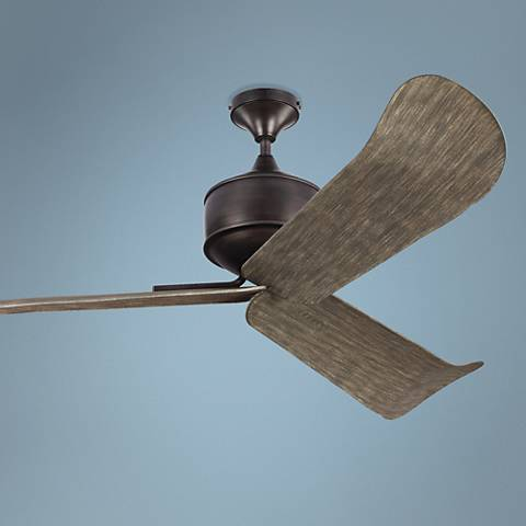"56"" Monte Carlo Dylan Aged Pewter Wet-Rated DC Ceiling Fan"