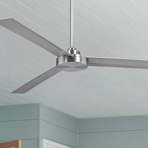 "62"" Minka Aire Roto XL Brushed Aluminum Outdoor Ceiling Fan"