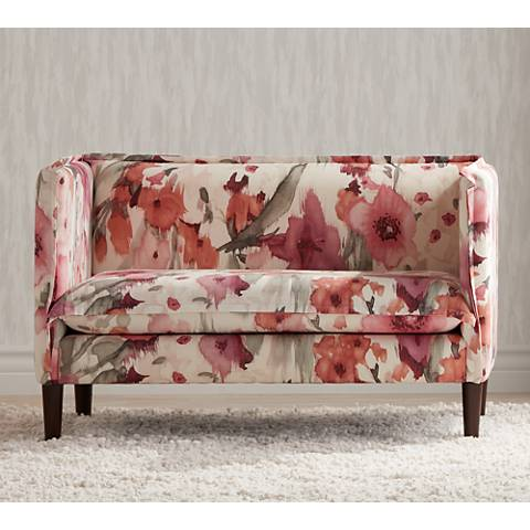Ariella Belissa Blush French Seam Settee
