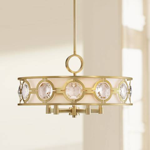 "Possini Euro Decadence Gem 21 1/4"" Wide Brass Pendant Light"