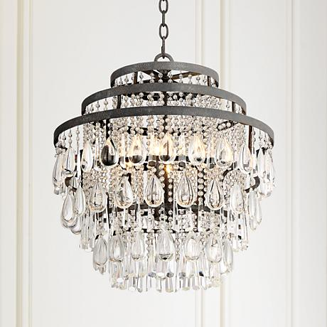 "Beloit 20"" Wide Clear Crystal 4-Light Chandelier"