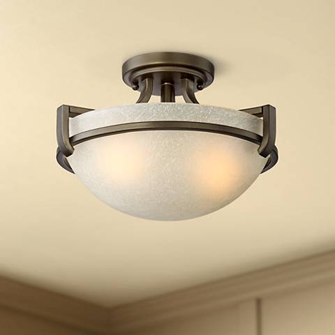"Mallot 13"" Wide Oil-Rubbed Bronze Ceiling Light"