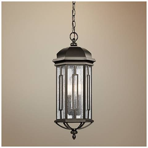 "Kichler Galemore 23 3/4""H Bronze Outdoor Hanging Light"