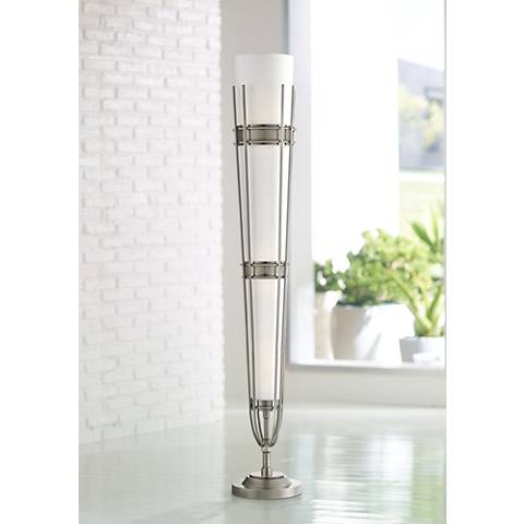 Possini Euro Felice Brushed Nickel 3-Light Floor Lamp