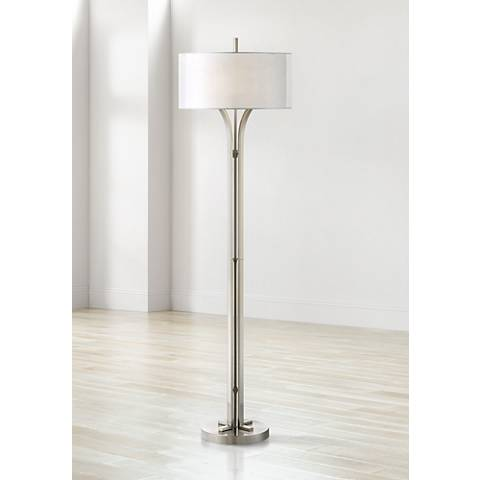 Tristan Modern Brushed Nickel Floor Lamp