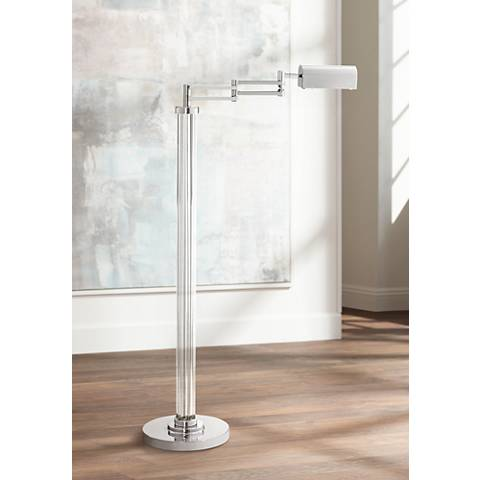 Possini Euro Cadence Glass Column LED Pharmacy Floor Lamp