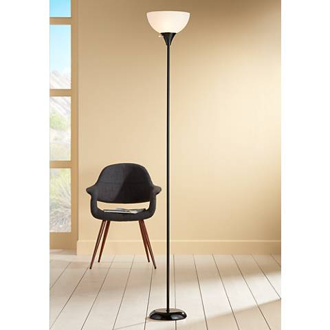 Bailey Black Torchiere Floor Lamp
