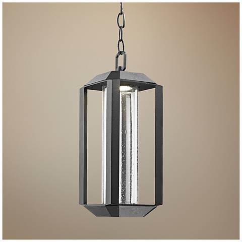 "Artcraft Wexford 15""H Black LED Outdoor Hanging Light"