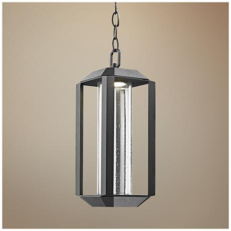 "Artcraft Wexford 5 1/2"" Wide Black LED Outdoor Hanging Light"